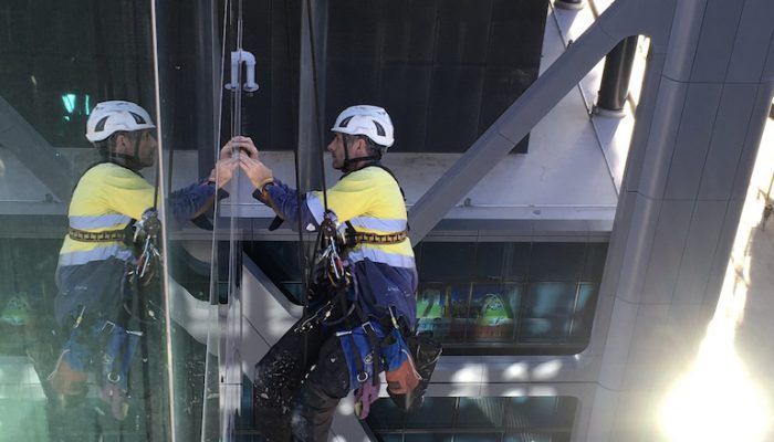 Rope access facade inspections